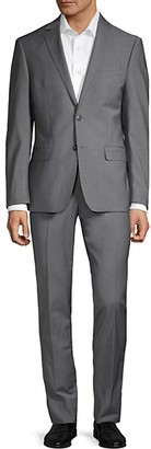 Calvin Klein Extra Slim-Fit Sharkskin Stretch Suit