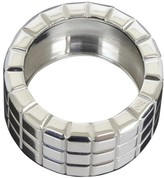 Chopard 18K White Gold Ice Cube 3 Row Wide Band 4.75 Ring
