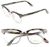 Tom Ford Women's 49Mm Optical Glasses - Black Horn/ Shiny Rose Gold (Online Only)