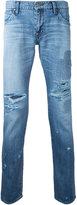 Factotum patched rip jeans - men - Cotton - 28