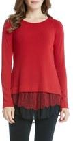 Karen Kane Women's Layered Hem Knit Top