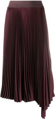 Joseph Asymmetric Pleated Midi Skirt