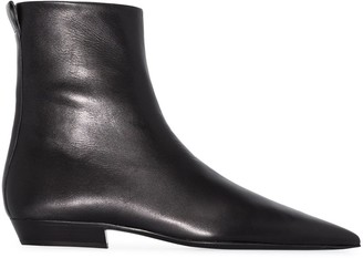 Jil Sander Pointed-Toe Ankle Boots