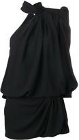 Saint Laurent one shoulder mini dress