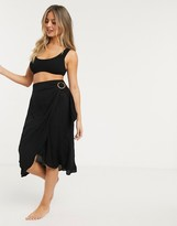 New Look beach sarong in black
