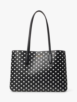 Kate Spade Lady Dot Tote Bag, Black/White