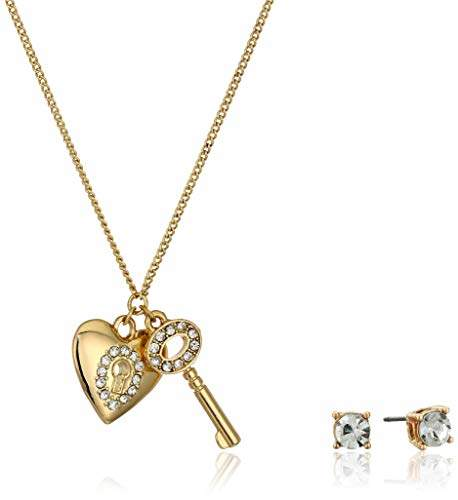 879da71a3b Gold Necklace Pendant Heart And Key - ShopStyle