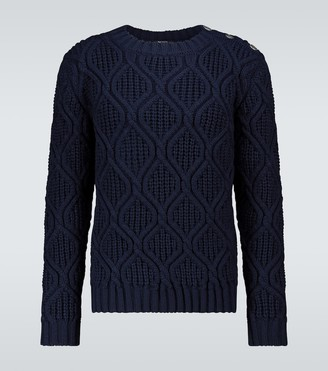 Balmain Crewneck cable-knit sweater