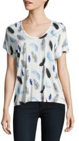 Buffalo David Bitton Feather Print Hi-Lo Tee