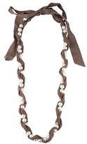 Lanvin Knit Pearl Strand Necklace