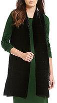 Eileen Fisher Round Neck Long Vest