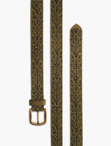 Lucky Brand Embroidered Suede Belt