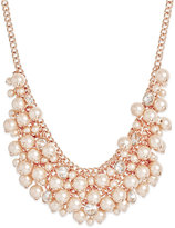 Charter Club Rose Gold-Tone Imitation Pearl Bib Necklace, Only at Macy's