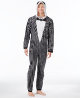 Briefly Stated Briefly State Men's Jack Skellington Hooded One-Piece Pajamas