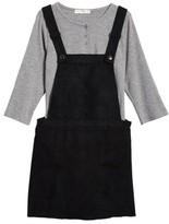 Love, Fire Girl's Henley Top & Overall Dress Set