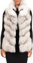 Gorski Down & Fox Fur Reversible Chevron Vest