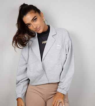 Puma x Stef Fit cropped jacket in grey marl - Exclusive to ASOS