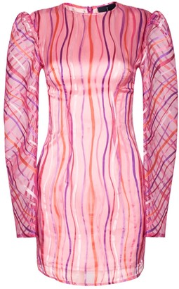 Rue Agthonis Pink Art Stripe Dress