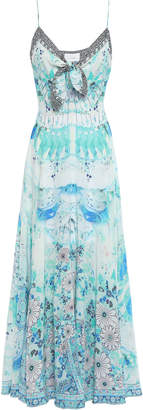 Camilla In The Clouds Knotted Silk Maxi Dress