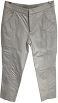 Drome White Leather Trousers for Women