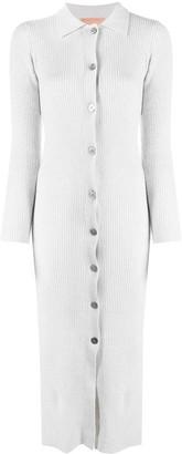 Andamane Wool Knit Shirtdress