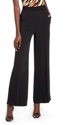 Topshop Pintuck Pleat Wide Leg Trousers