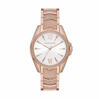 Michael Kors Women's Whitney Quartz Watch with Stainless Steel Strap Pink 18 (Model: MK6858)