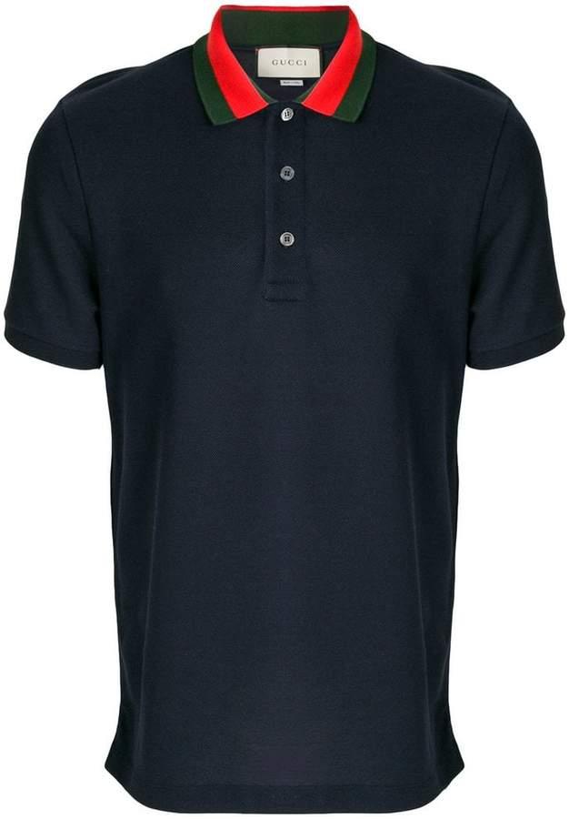 Gucci embroidered appliqué polo shirt
