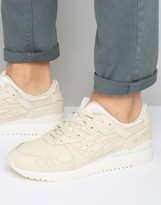 Asics Gel-lyte Iii Leather Trainers In Cream H7m4l 0202
