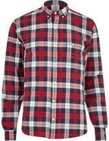 River Island MensRed Franklin & Marshall casual check shirt