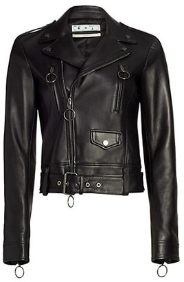 Off-White Leather Biker Jacket