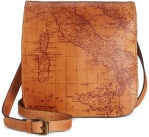 Patricia Nash Granada Map Print Leather Crossbody