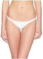 Vitamin A Swimwear Carmen Ribbed Bottoms (White/Eco Rib) Women's Swimwear