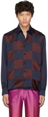 Jockey Daniel W. Fletcher Navy and Burgundy Shirt