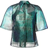 DELPOZO iridescent lace shirt - women - Silk/Polyamide - 36