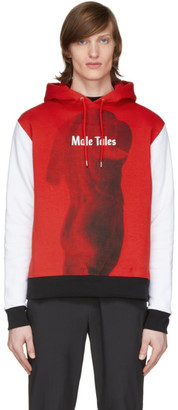 Paco Rabanne Red and White Peter Saville Edition Male Tales Hoodie