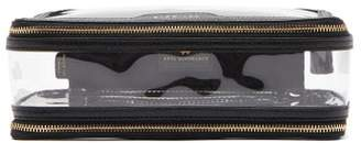 Anya Hindmarch In-flight Leather And Pvc Travel Bag - Womens - Black