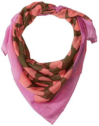 Kate Spade Heart Strings Square Scarf (Cypress) Scarves