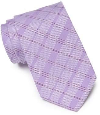 Calvin Klein 3D Plaid Silk Blend Tie