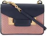 Sophie Hulme Nano Milner Leather and Python-Effect Shoulder Bag - women - Leather - One Size
