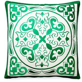 Kashi 20x20 Embroidered Pillow, Green