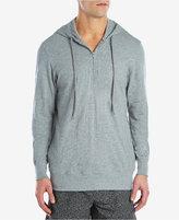 2xist Men's Cotton Quarter-Zip Pajama Hoodie