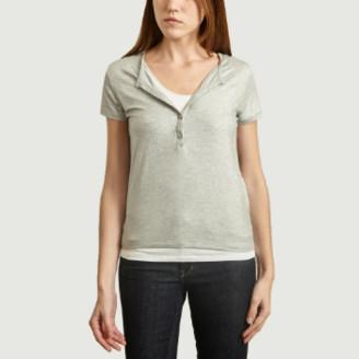 Majestic Filatures Metallic Gray Double T Shirt - s