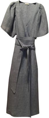 Masscob Blue Linen Dress for Women