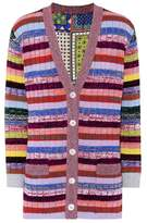 Gucci Tiger Cards reversible striped wool cardigan
