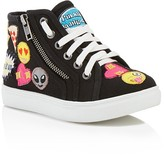 Steve Madden Girls' Emoji High Top Sneakers - Little Kid, Big Kid