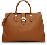 Lauren Ralph Lauren Charleston Textured Leather Tote