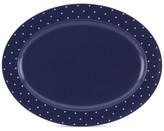 Kate Spade Larabee Dot Navy Collection Stoneware Serving Platter