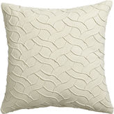 "CB2 Woolsey Ivory 18"" Pillow With Feather-Down Insert"