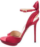 Charlotte Olympia Satin Platform Sandals